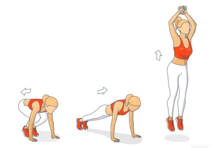 rutina de gimnasio para bajar de peso con burpees